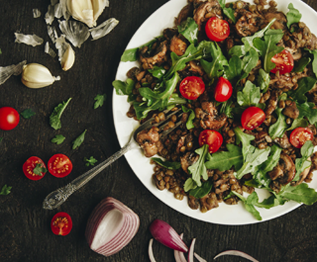 Lentils and Tomato Salad Image