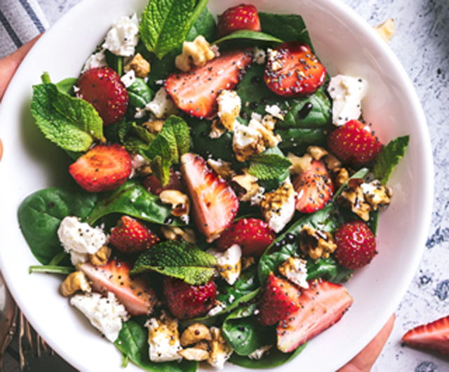Strawberry, Spinach and Feta Salad Image