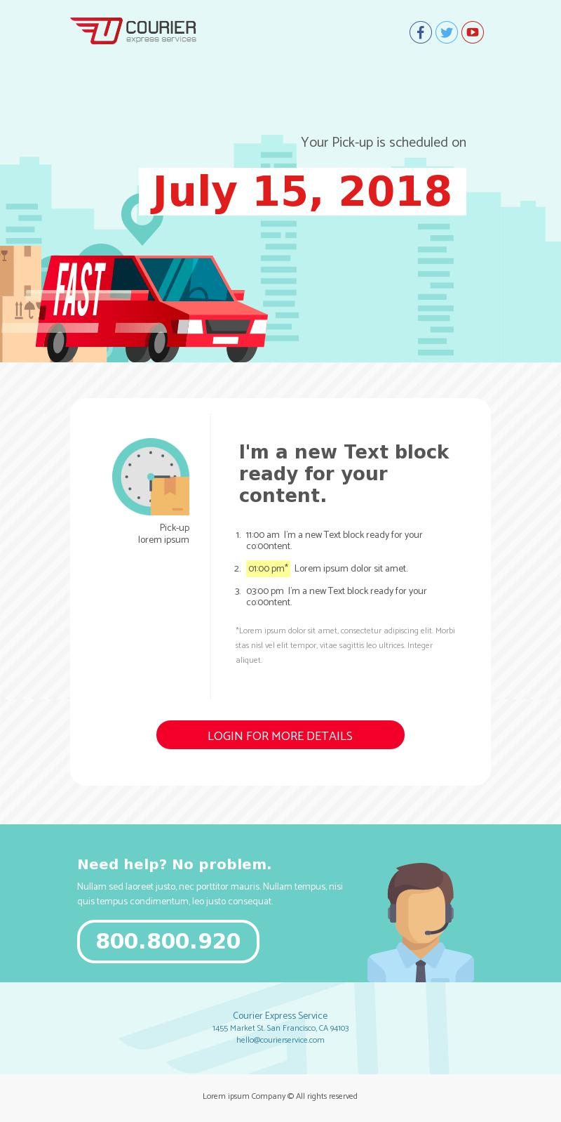 Transportation email template