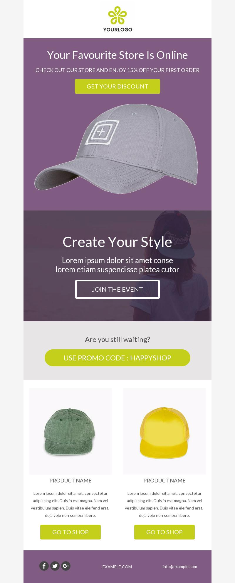 Mad Hatter Product Promotion Email Template For Fashion Bee Free