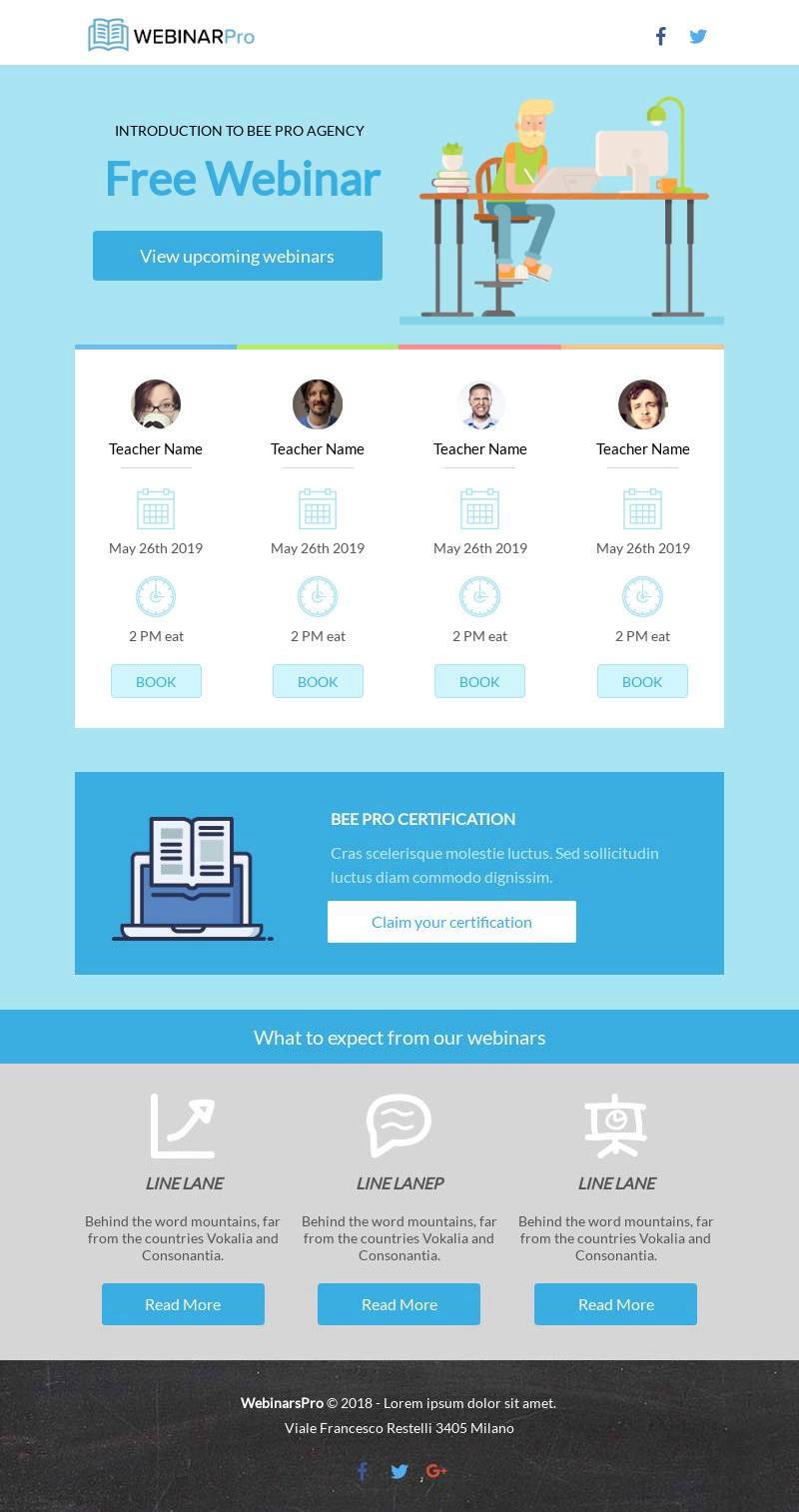 Webinar email template