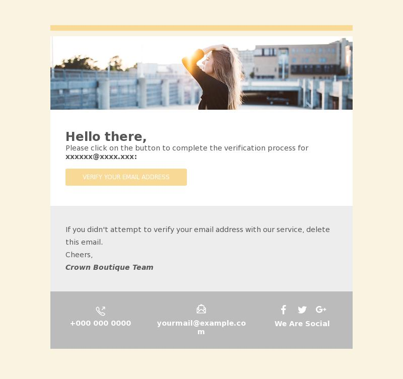 Account Activation Transactional Email Template Bee Free