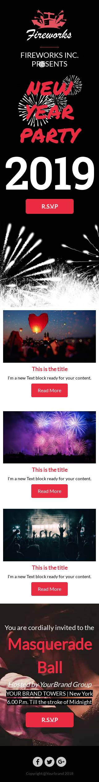 New Year Party email template