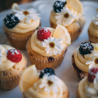 A photo of deluxe cupcakes