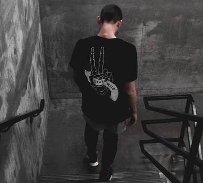 Boy with black T-shirt
