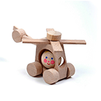 Helicopter Wood Toy