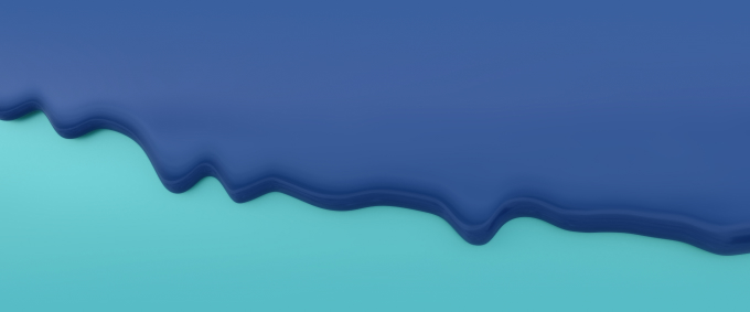 Dripping blue paint