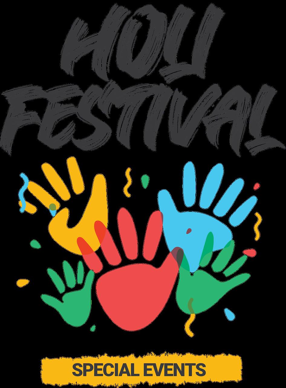 Holi Festival color hands