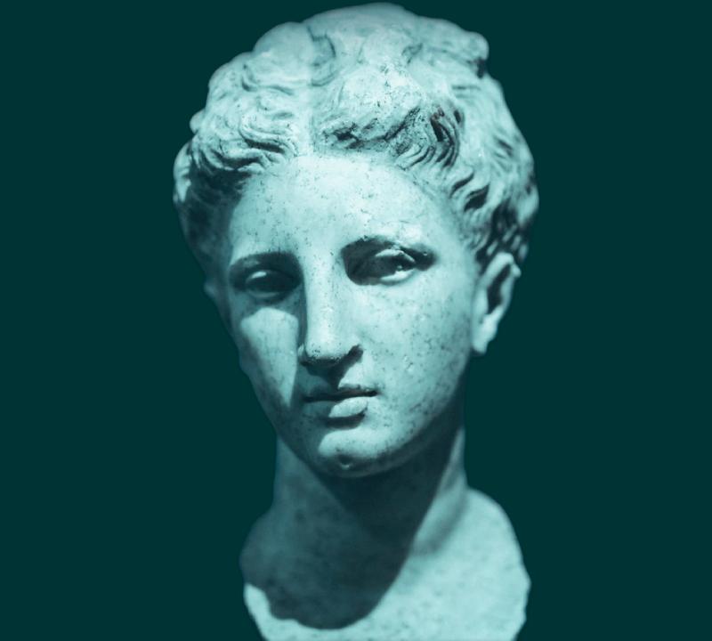 A portrait bust