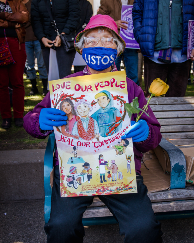 Grandmother at Peaceful Protest