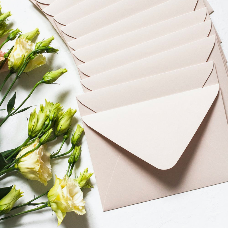 Flowers and envelopes