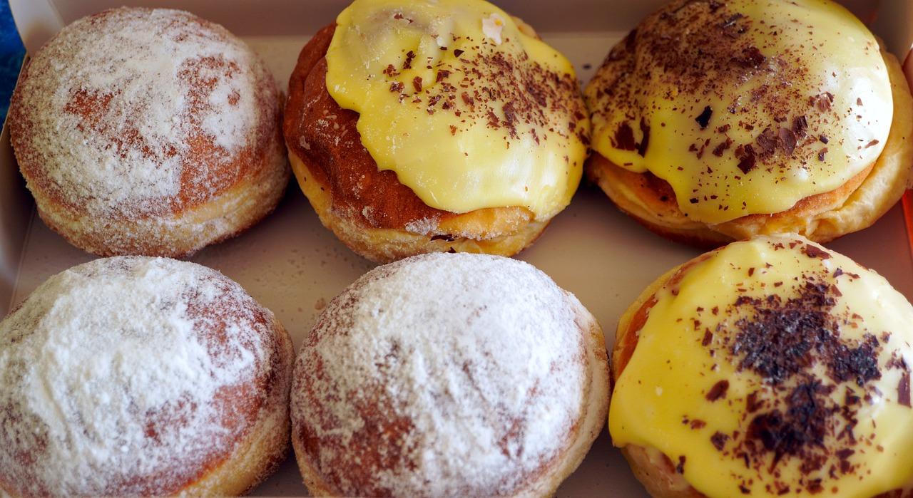Homemade Doughnuts with powder