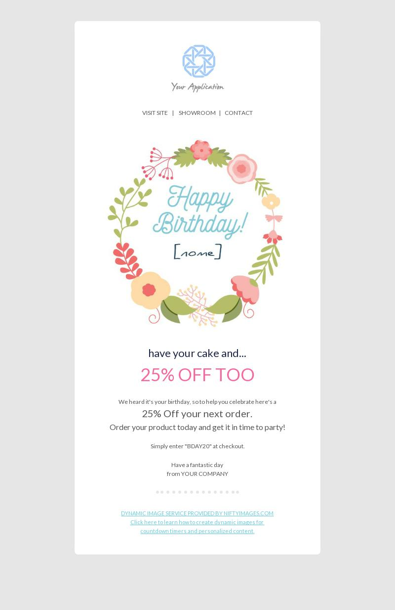 happy birthday personal note email template for food. Black Bedroom Furniture Sets. Home Design Ideas