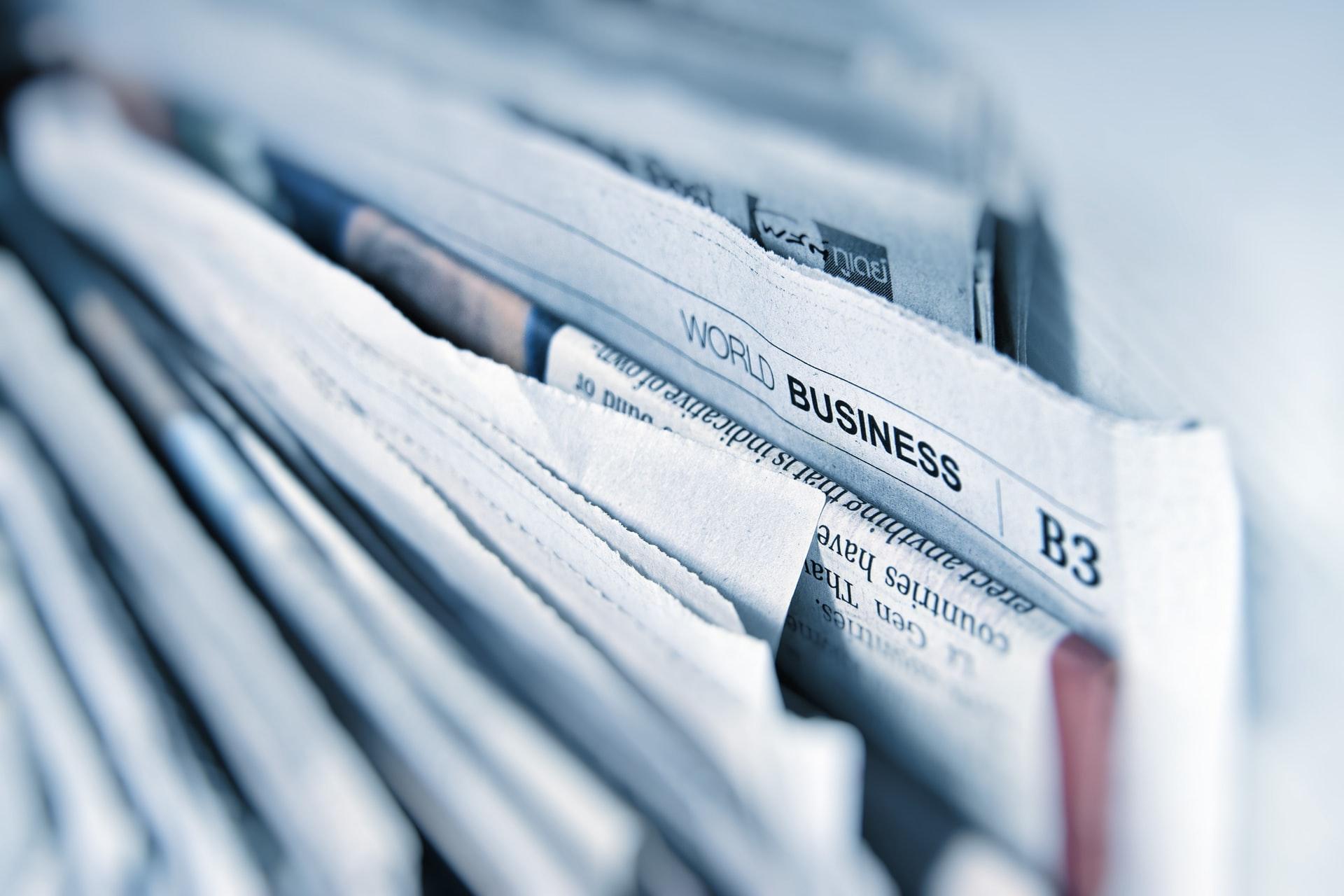 newspapers stuck