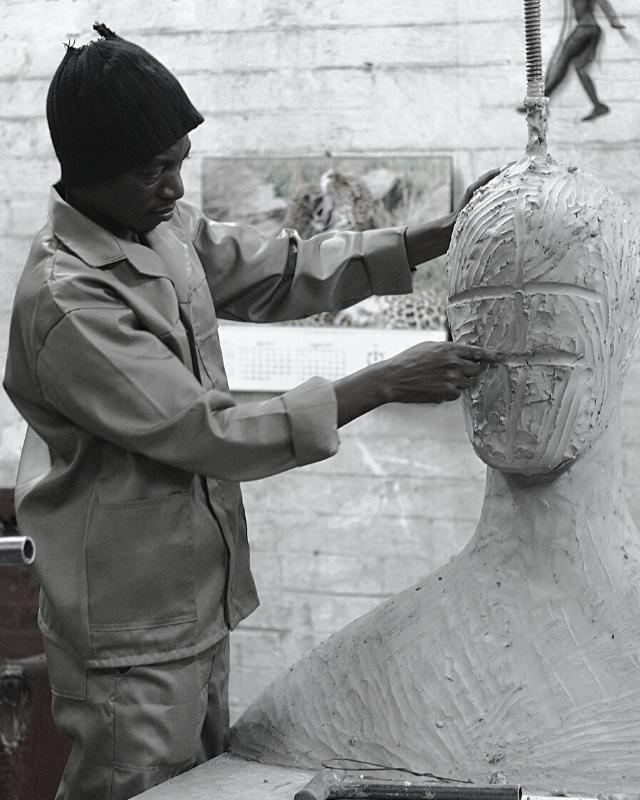 Artist Sculpting