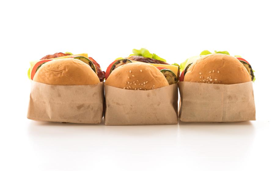Image of three burgers