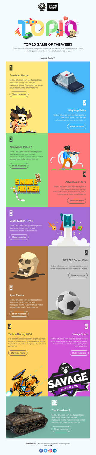 170+ HTML Email Templates, Professional Design - BEE Free
