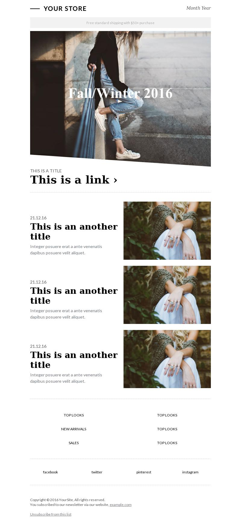 Fashion Zine email template