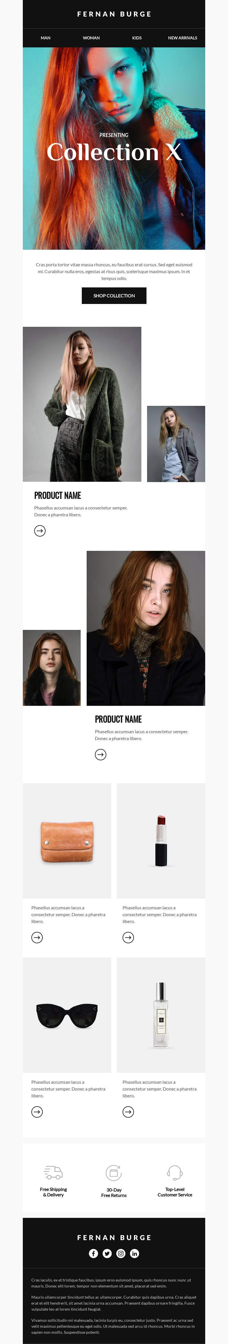Fashion Collection X email template