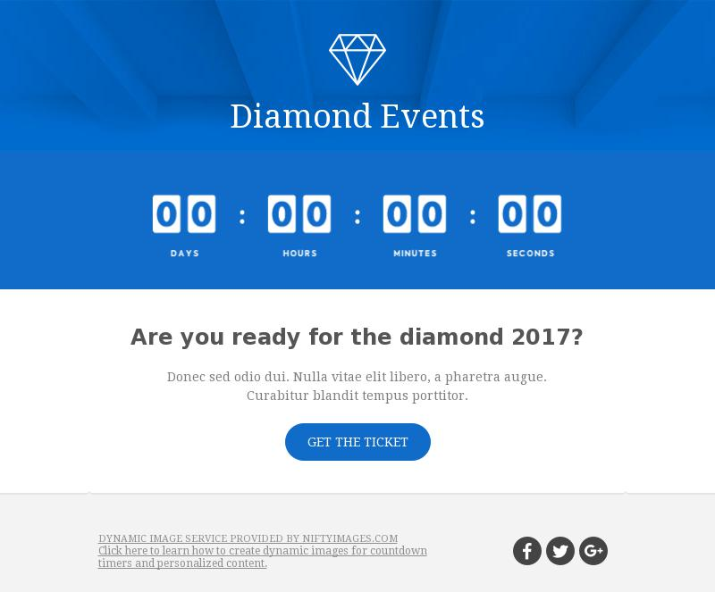Diamond Events email template