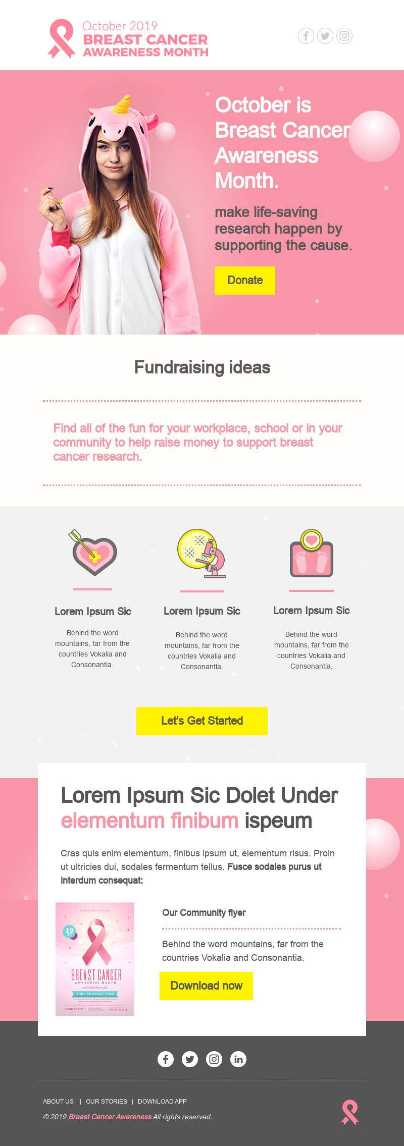 Breast Cancer Awareness email template