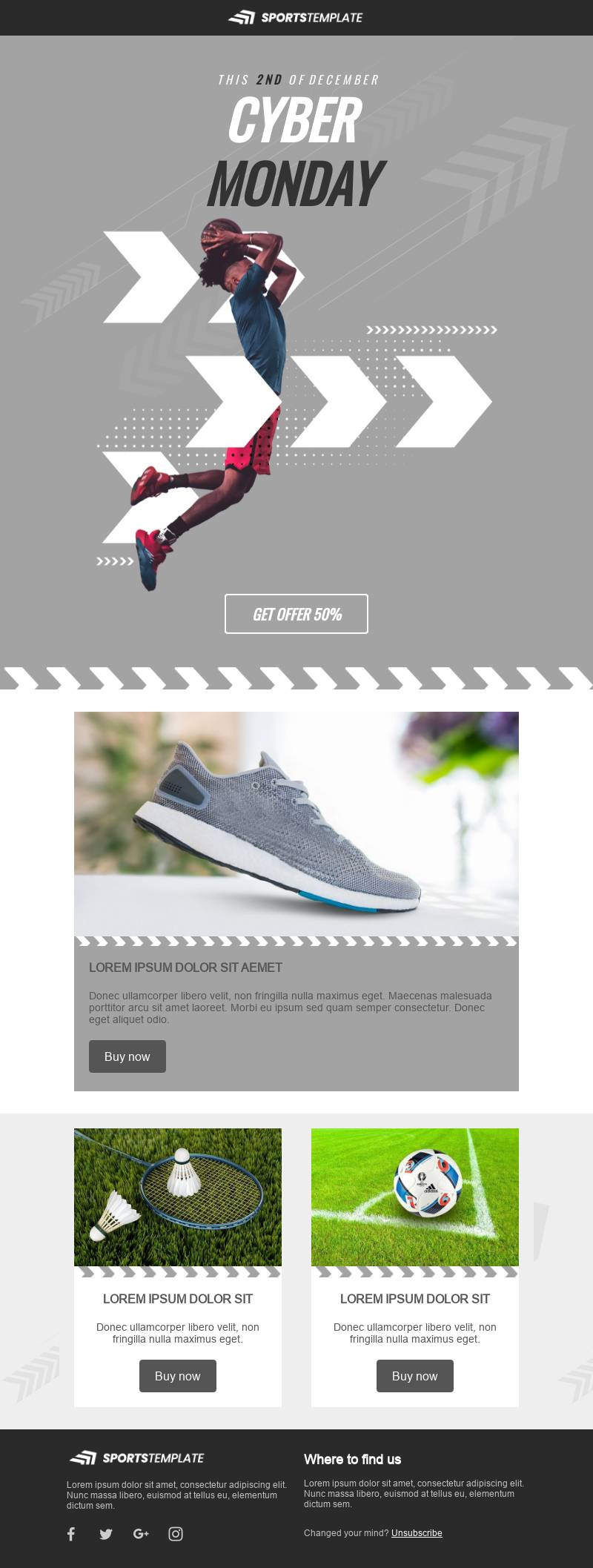 Cyber Monday Minimal email template
