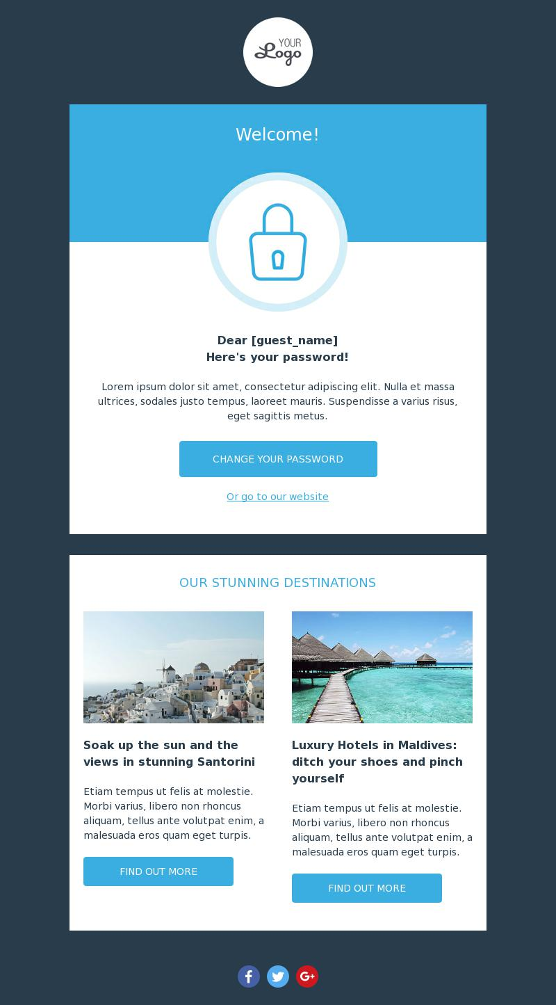 Password Notification | Notification Email Template for