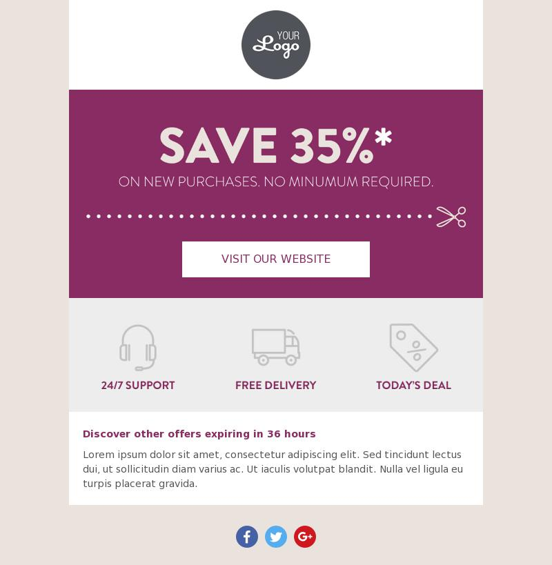 Basic Coupon email template