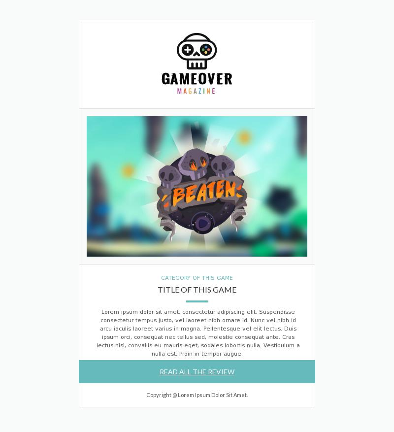 Gaming Magazine   Newsletter Email Template for Media