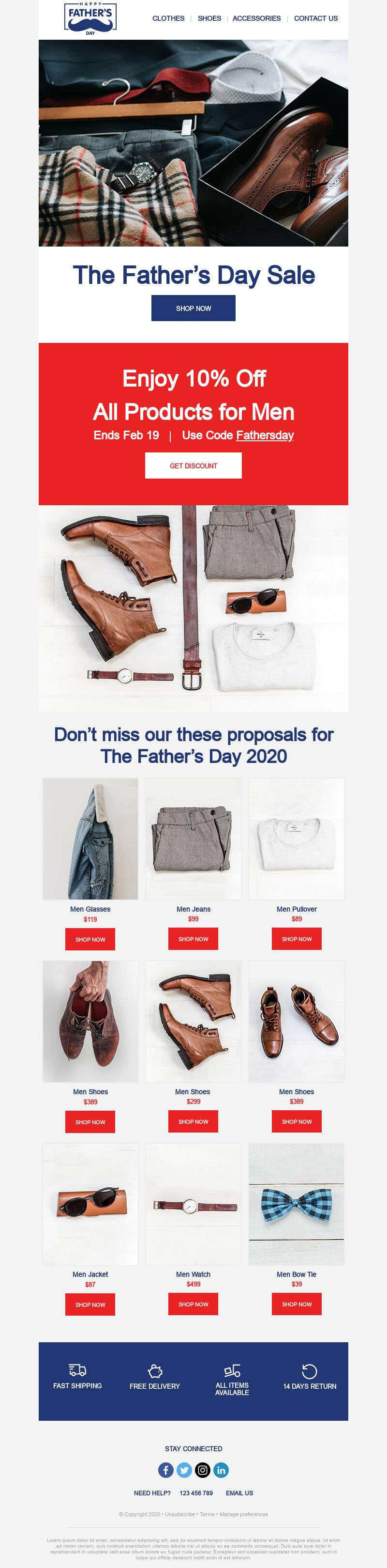 Father's Day email template