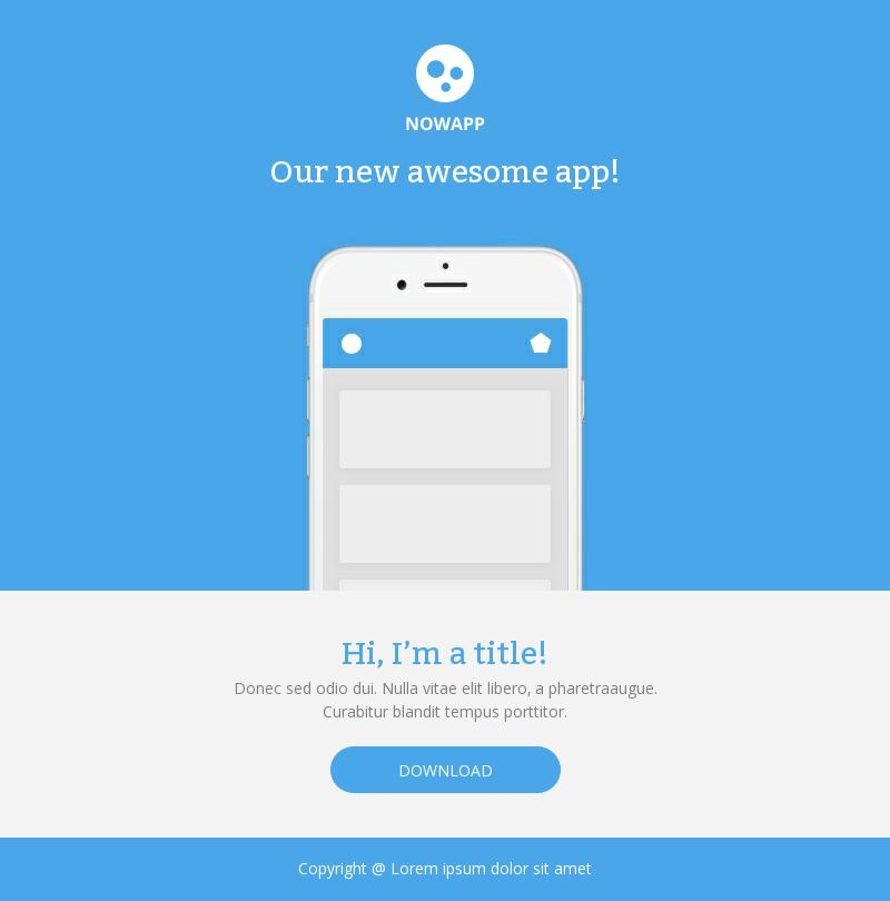 App Launch email template