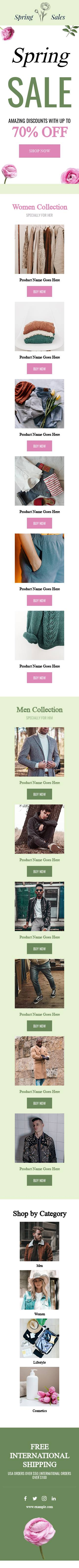 Spring Sale email template