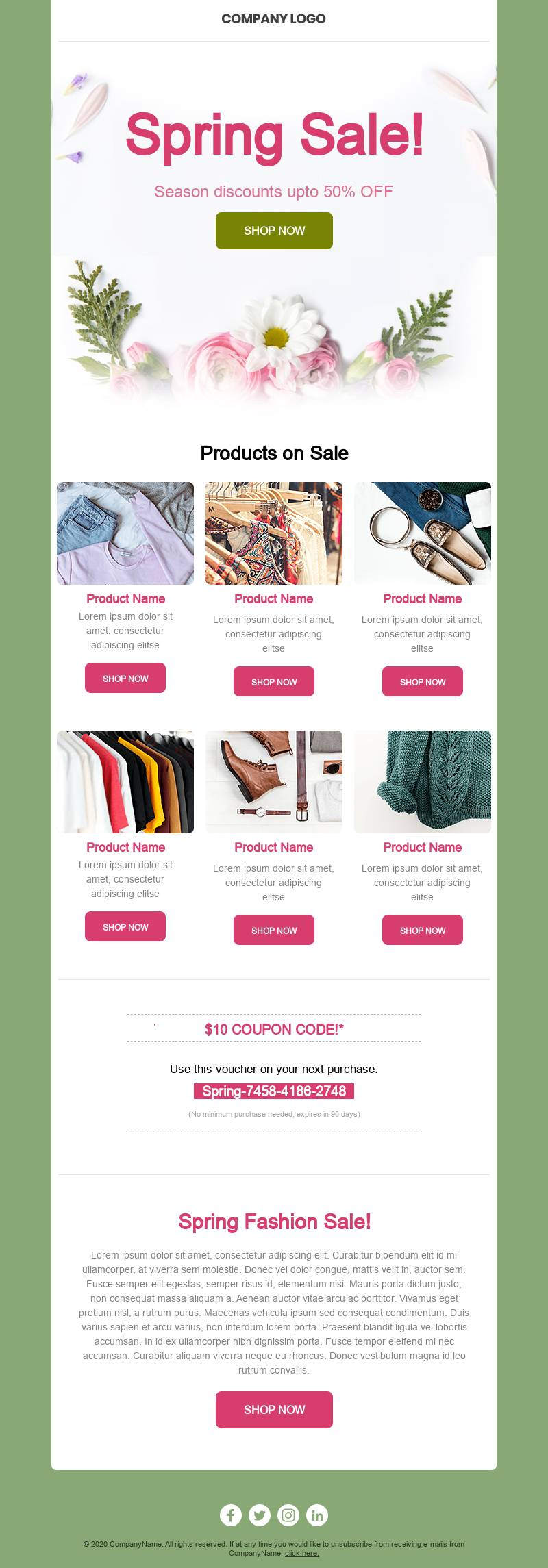 Fresh Deals email template