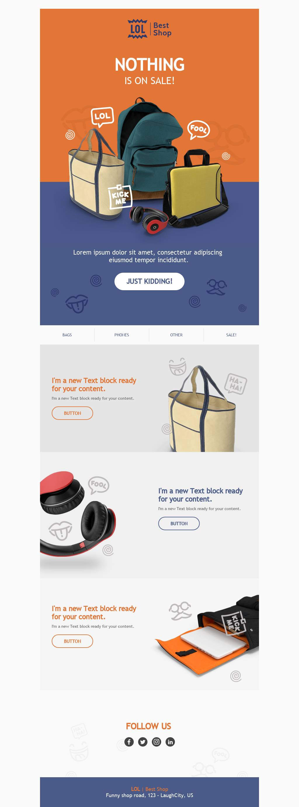 April Fools' day email template