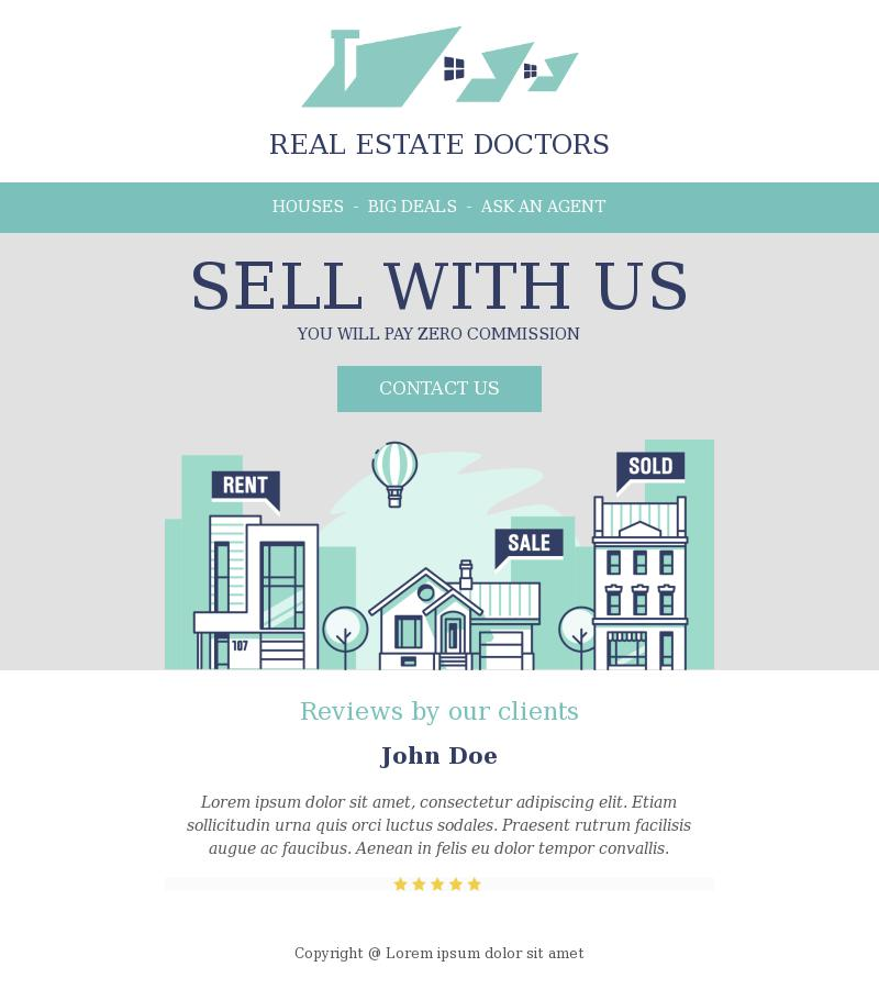 Real Estate Doctors Service Promotion Email Template For Real