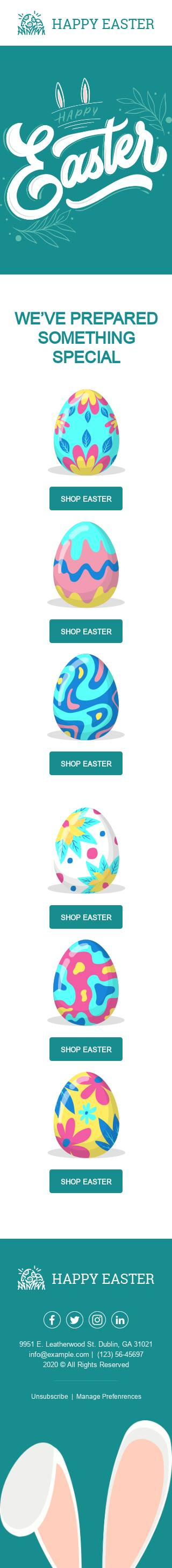 Special Easter email template